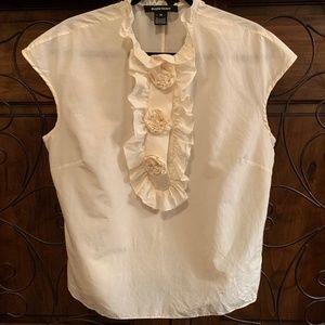 Cotton/Silk Ellen Tracy Rosette Blouse